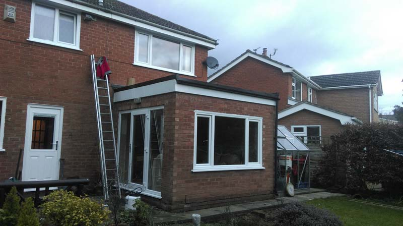Roof Replacement on Extension
