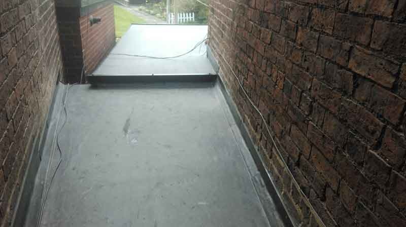 Completed Rubber Roofing Installation at Domestic Property in Cheadle, Staffordshire